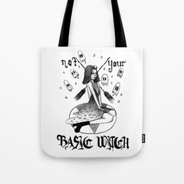 NOT YOUR BASIC WITCH - inktober Tote Bag