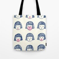 bubble Tote Bags featuring Bubble bubble bubble gum by Young Ju