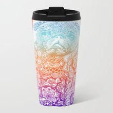Mandala Pug  Metal Travel Mug