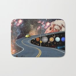 Composing on the Road. *Futuristic / Sci-Fi Surreal Digital Collage.* Bath Mat