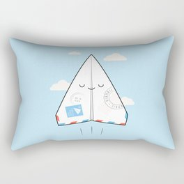 Airmail - via paper plane ! Rectangular Pillow