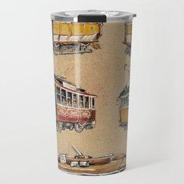 Old vintage yelow trams -nostagic pubic transport Travel Mug