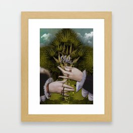 """The hands of Bosch and the Spring"" Framed Art Print"