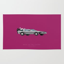 Back To The Future | Famous Cars Rug
