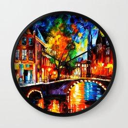 Starry Night Tardis Wall Clock