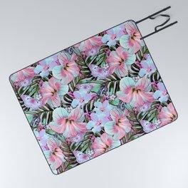 Vintage Pastel Aloha Picnic Blanket
