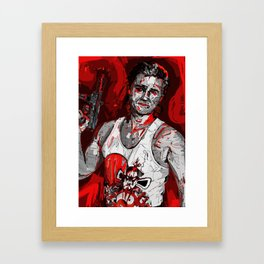 Jack Burton Tribute (Red Version) Framed Art Print