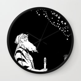 Abraham Contemplates the Stars Wall Clock