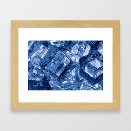 Ice cubes background Framed Art Print