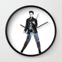 elvis Wall Clocks featuring Elvis by Maxime Zech