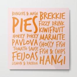Kiwi Tucker - New Zealand Food for NZ Foodies Metal Print