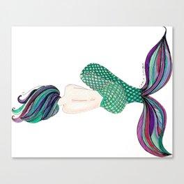 Sirena Dormida (Sleeping Mermaid) Canvas Print