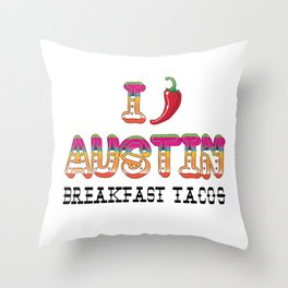 I chile Austin Throw Pillow