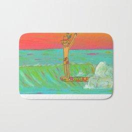Hang 10 Retro Surf Dude Longboard Surf Bath Mat