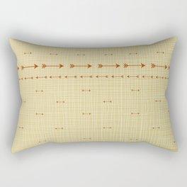 Arrows on burlap Rectangular Pillow