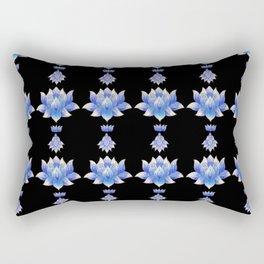 EO Blue Lotus Rectangular Pillow