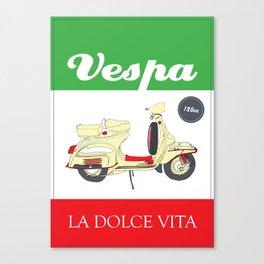La Dolce Vita // Vespa Canvas Print