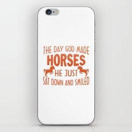 GOD MADE HORSES iPhone Skin