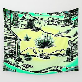 Top of the Rocky Mountains - Ink Wall Tapestry