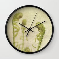 fern Wall Clocks featuring Fern by Pure Nature Photos