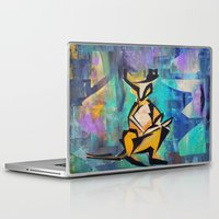 kangaroo Laptop & iPad Skins featuring KANGAROO by Matt Schiermeier