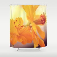 cosmos Shower Curtains featuring Cosmos by DuckyB