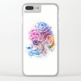 OM Symbol Watercolor Art Clear iPhone Case