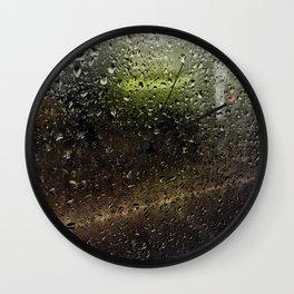 Rainy Morning Commute Wall Clock