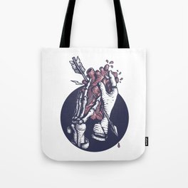 Holding heart Tote Bag