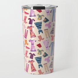 Dress Papercut Pattern - baby Yellow Travel Mug