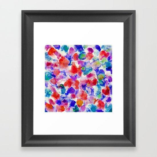 Amaris Blue Framed Art Print