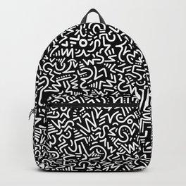 Black and White Line Art Backpack