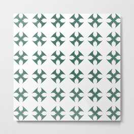 Abstract geometric shapes green Metal Print