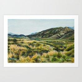 San Andreas Faultline Art Print