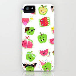 Happy Apples and watermelons iPhone Case