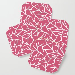 Branches - pink Coaster