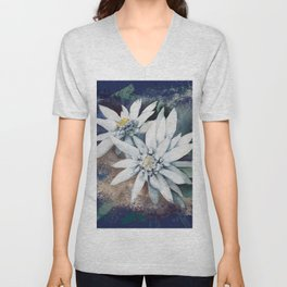edelweiss Unisex V-Neck