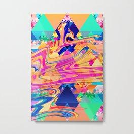 Colorful Pattern Waves Metal Print