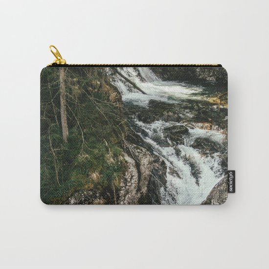 Waterfall In The Mountains Carry-All Pouch