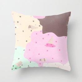 Ice Cream Camo Throw Pillow