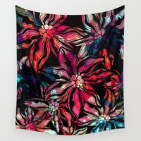 flora Wall Tapestries featuring flora by Janine Lecour