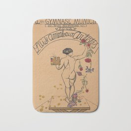 billboard LAIDE AMICALE AUX ARTISTES 1927 Bath Mat