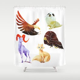 Arctic animals Shower Curtain