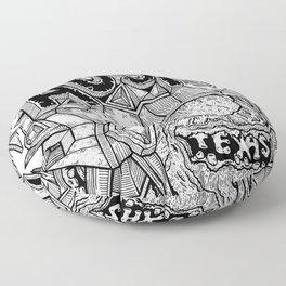 Geometric Mutations: Austin, TX Floor Pillow