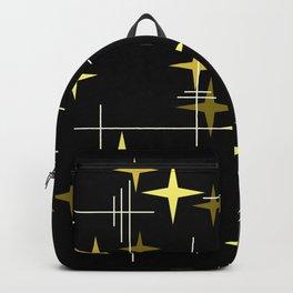 Mid Century Modern Stars Black Yellow Backpack