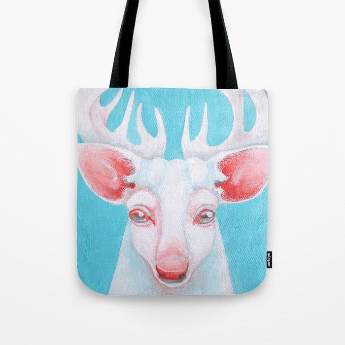 Portrait of a White Stag Tote Bag