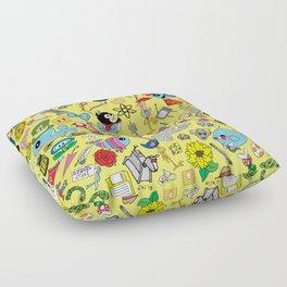 Geek Chic Megamix Yellow Floor Pillow