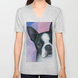 Dog 128 Boston Terrier Unisex V-Neck