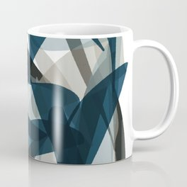 Abstract Whale Monotone Coffee Mug