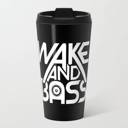 Wake And Bass (White) Travel Mug